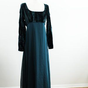Made in Canada Forest Green Vintage Formal Dress